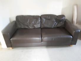 Leather sofa £40