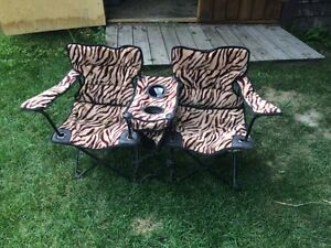 chaise camping double enfants