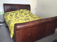 Giant 6 Foot vintage leather Bed
