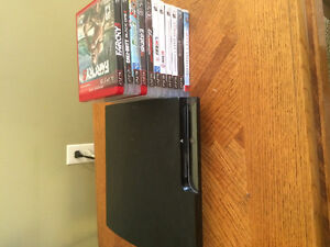 PlayStation 3 with 11 games / no power cord or controllers