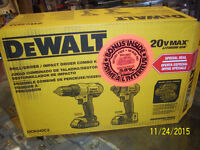 *BRAND NEW *20 VOLT LITHIUM DEWALT KIT WITH BONUS BATTERY