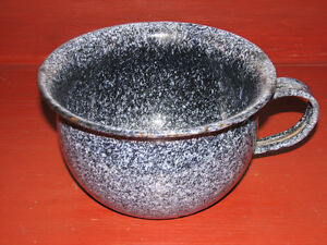 Antique Vintage Grey Granite Ware Chamber Pot Kitchener / Waterloo Kitchener Area image 1