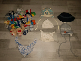 Baby Boy Caps, hats 0-3 months and 3-6 months. Excellent condition.