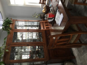 Ashley dining room table, buffet and hutch