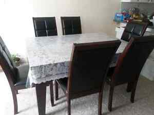 Dinning table with six chairs Kitchener / Waterloo Kitchener Area image 4