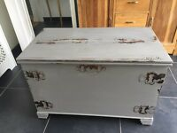 Magnificent wooden trunk with lovely detail