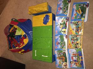 Huge lot of Lego mega bloks and Lego duplo