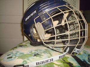2 NICE HOCKEY HELMUTS WITH CAGE & CHIN GUARDS Windsor Region Ontario image 5