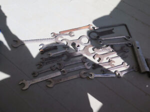 Vintage Assorted Wrenches British Standard Whitworth BSF England