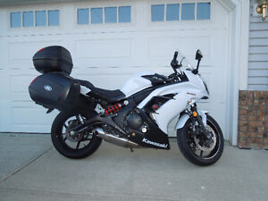 2013 Ninja 650 ABS with hard saddle bags & top case in mint cond
