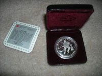1993 Canada Cased Proof Silver Dollar coin Stanley Cup