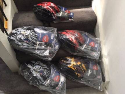 6x Official AFL Bike Helmet $20 each