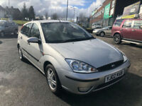 2002 FORD FOCUS 1.8i 16v ZETEC LOW 83,000 MILES 5 DR ( PART EX TO CLEAR )