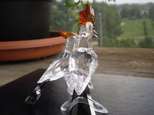 "Swarovski Crystal Figurine- "" Hoopoes "" - Birds Kitchener / Waterloo Kitchener Area image 5"