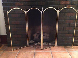 NEW PRICE - Brass Fireplace Screen