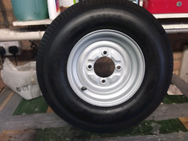 Trailer wheel and tyre 5.00-10