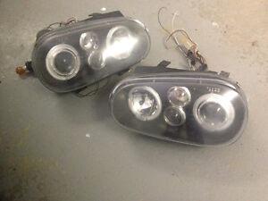 Lumières avant, phares, headlights volkswagen golf 4 1999+