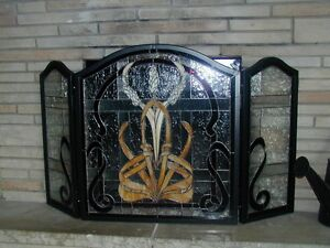 Hand made Stained Glass Fire Screen