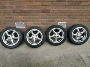 MX5 na nb 15 inch mag alloy wheels 4 100 4 stud polished chrome