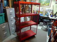 Commercial Red Utility Cart in Excellent Condition made in USA