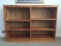 Knotty pine wood bookcase