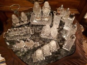 Crystal salt and pepper sets for only $10 each