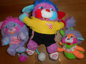 3 Peluches Popples Vintage 1986