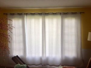 Silver/white/grey curtains x4