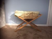 Moses Basket and stand (Mamas and Papas)