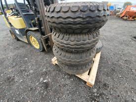 2 x 10,0/75 -15.3 wheels &tyres unused tractor or trailer