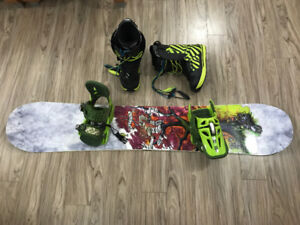 Board, boots, & bindings for sale