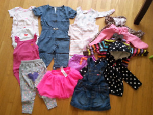 ALL CARTER'S Girl's 12 month lot