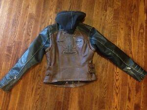 Women's leather Harley jacket