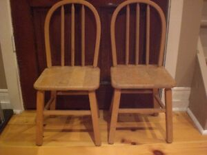 Solid Wood Children's Chair -- Two Available Kawartha Lakes Peterborough Area image 2