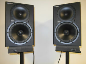 Pair of Mackie HR824 Studio Monitors with stands and more!