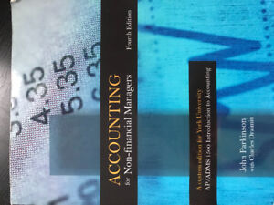 Financial and managerial accounting ADMS 1500