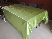 Light Lime green table clothes, and  extra material