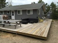 Island cottage for rent Lake Huron 45m from London
