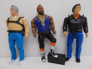 A-TEAM FIGURES - 1983 - Set of 3 Characters
