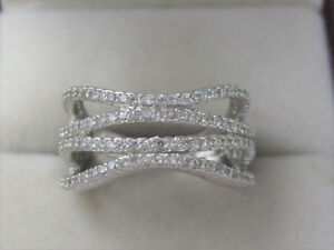 Ladies NVC 925 Sterling Silver Wavy Ring size 9