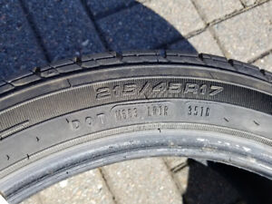 4 Tires - 215/45R17 - Like New