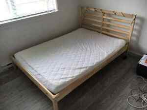 1 Year Old Ikea Double Bed And Mattress, Excellent Condition