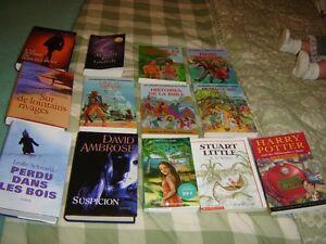11 Books French - Livres francais et 2 anglais  pour ados