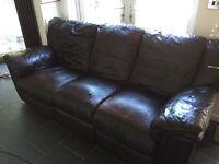 2 piece reclining sofa