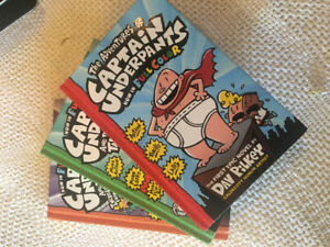 Captain Underpants and Minecraft books