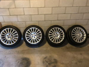 "17"" OEM Staggered mercedes wheels + tires"