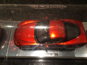 Hot Wheels 1/18 limited edition showcase Corvette C6 in display