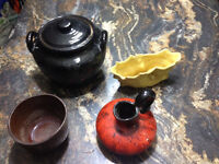 Assorted vintage pottery