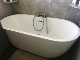 Oval Free Standing Bath (taps not inc. )