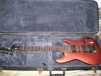 Ibanez S370 electric guitar with hard case